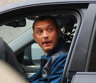 Jude Law en el set de rodaje