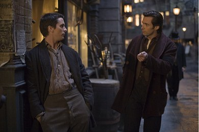 Christian Bale y Hugh Jackman en El Prestigio