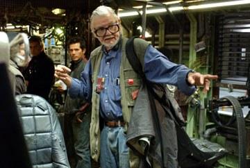 George A. Romero en el rodaje de La tierra de los muertos