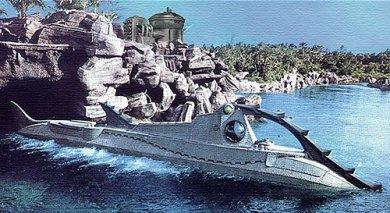 El Nautilus en la versión clásica de Disney