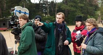 Christopher Nolan en el rodaje de Batman Begins