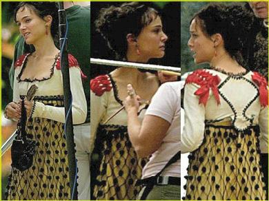Natalie Portman en el rodaje de Los Fantasmas de Goya