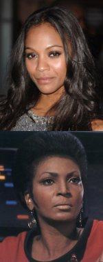 Zoe Saldana es Uhura