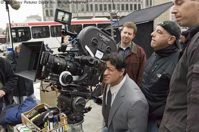 Stallone en el rodaje de Rocky Balboa