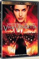 Portada DVD sencillo de V de Vendetta
