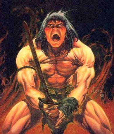 Conan en pleno cabreo