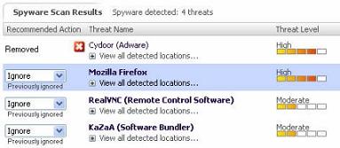 Firefox espía