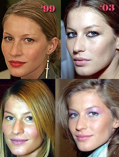Giselle Bundchen: Antes y después
