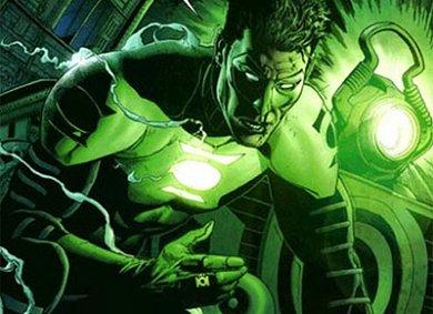 Green Lantern en acción