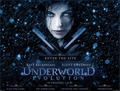 Web de Underworld: Evolution