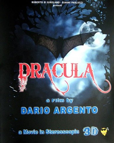 Cartel del Dracula de Dario Argento