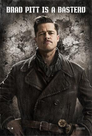 Cartel Inglourious Basterds - Brad Pitt