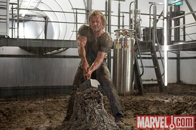 Chis Hemsworth se puso cachas para Thor