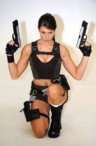 Alison Carroll como Lara Croft #1