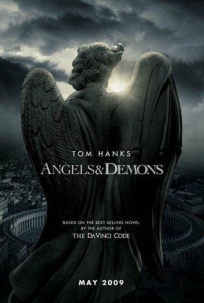 Cartel de Angeles y Demonios