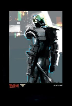 Arte Conceptual Juez Dredd #1