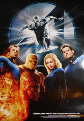 Cartel cutre de Fantastic Four 2: Rise of the Silver Surfer