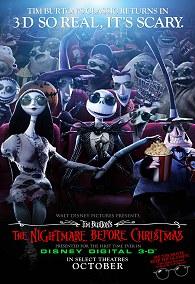 Cartel Pesadilla antes de Navidad 3D