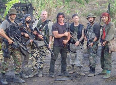 Rambo y amigos