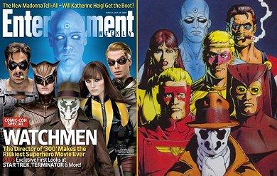 Portada EW y la visión del cómic de Watchmen