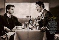 Emile Hirsch y James McAvoy en Extraños en un tren