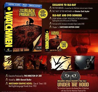 Las ediciones en DVD y Blu-ray de Relatos del Navío Negro